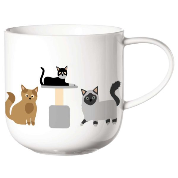 ASA Henkelbecher Coppa Cats Henkeltasse Kaffeebecher Teetasse Katzen