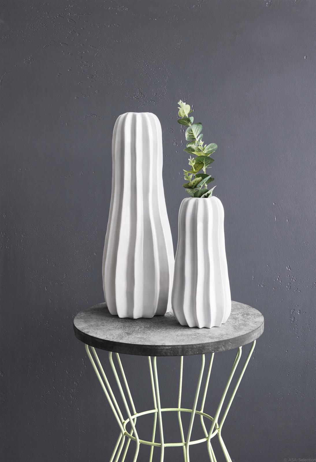 Kaktus Vase Weiss 42cm Von Asa