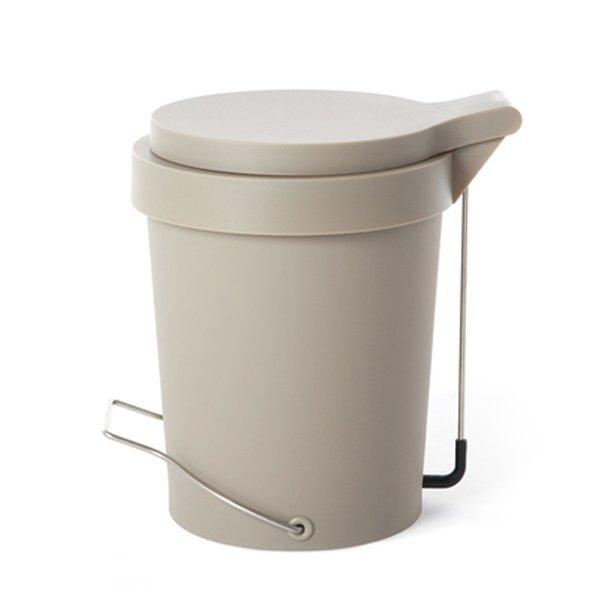 Badmulleimer Treteimer Mulleimer Tip Grau Beige 29 5cm 7 Liter