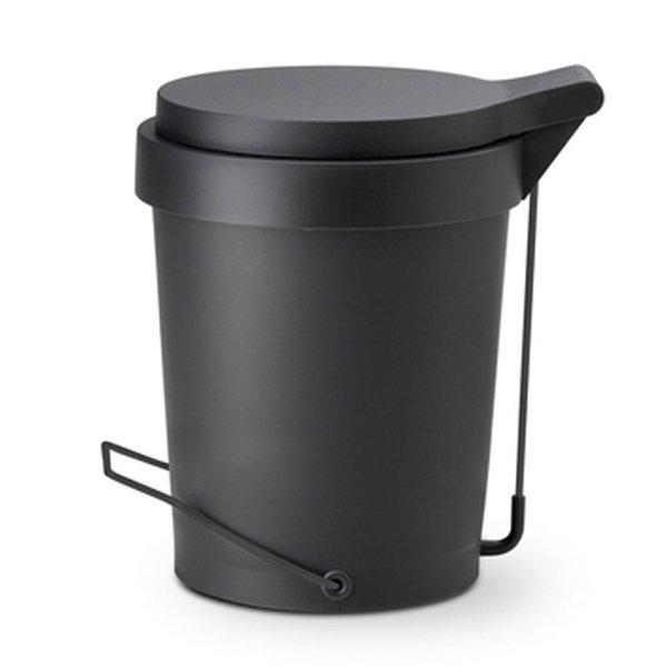 Badmulleimer Treteimer Mulleimer Tip Schwarz 29 5cm 7 Liter Authentics