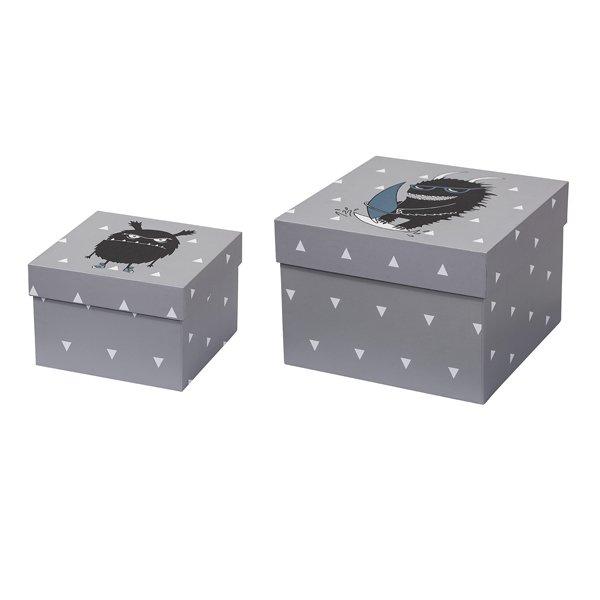 mini aufbewahrungsboxen f r kinder monster von bloomingville. Black Bedroom Furniture Sets. Home Design Ideas