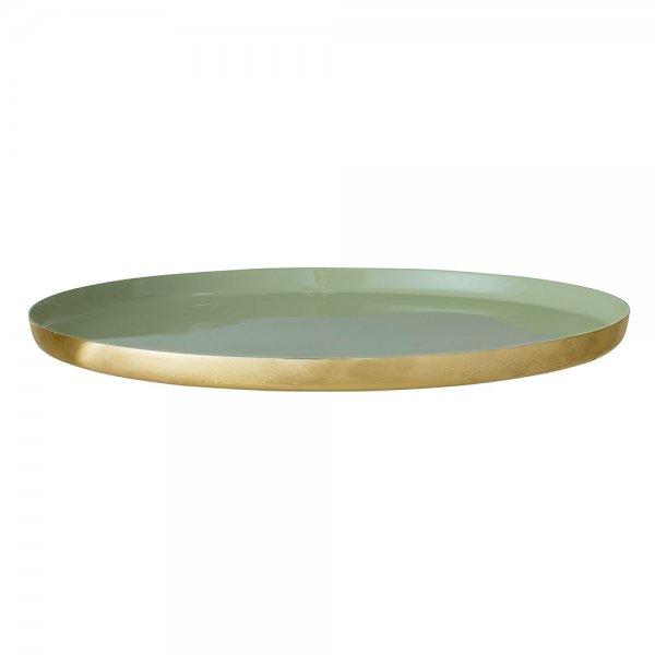 Tablett Gold Grün Rund 40 Cm Von Bloomingville