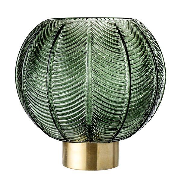 Vase Glas Grün Gold Von Bloomingville Bei Erkmann