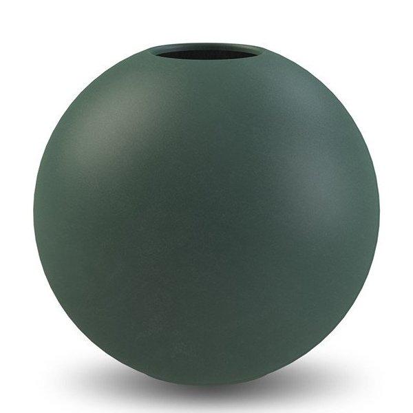 15cm Cooee Design Vase Ball Glass Emerald