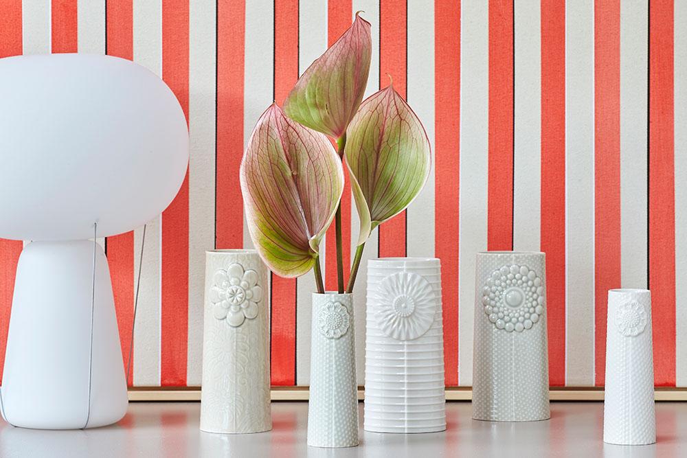 9cm Dottir Nordic Design Vase Pipanella Flower Micro Rose