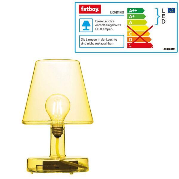 Lampe Transloetje Gelb von Fatboy