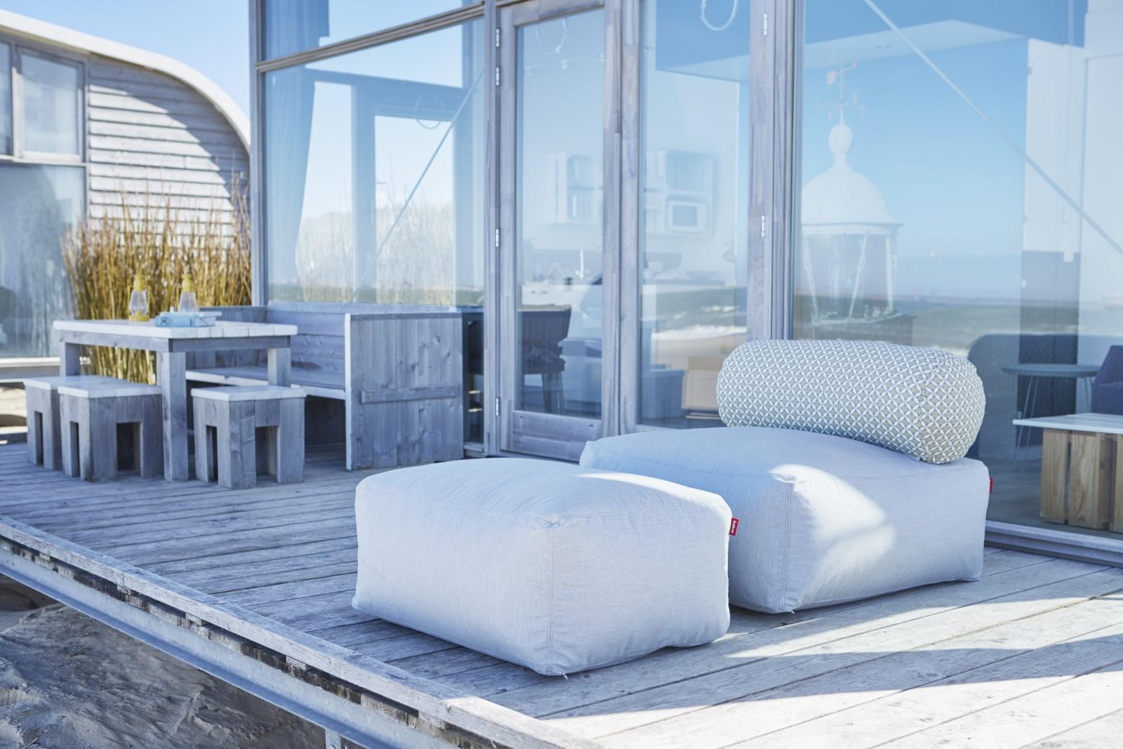 sessel tsjonge dunkelgrau mit r ckenlehne gestreift von fatboy. Black Bedroom Furniture Sets. Home Design Ideas