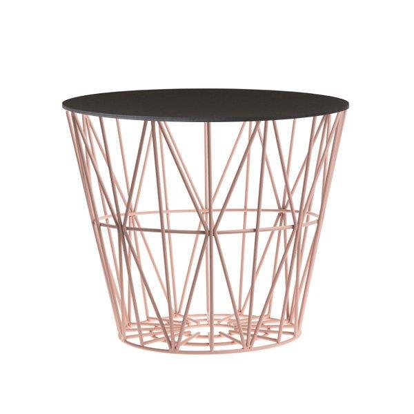 Beistelltisch Basket Rose Schwarz Klein Von Ferm Living