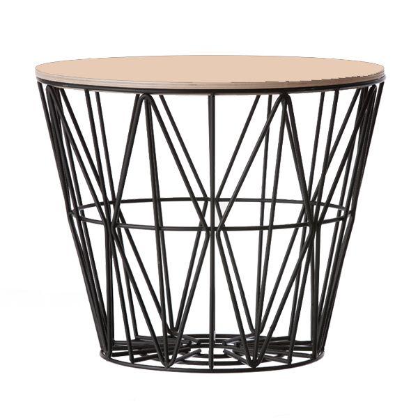 Ferm Living Beistelltisch Basket Schwarz Beige (Mittel)