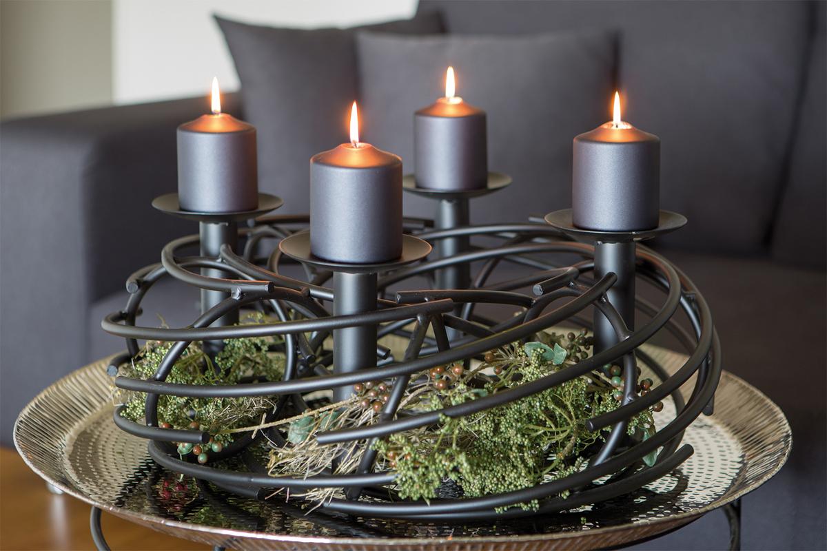 adventskranz amber rund gro von fink. Black Bedroom Furniture Sets. Home Design Ideas