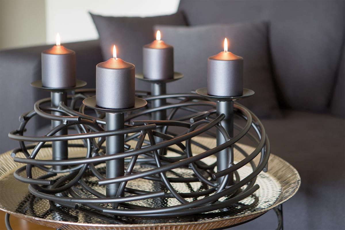 adventskranz amber rund klein von fink. Black Bedroom Furniture Sets. Home Design Ideas