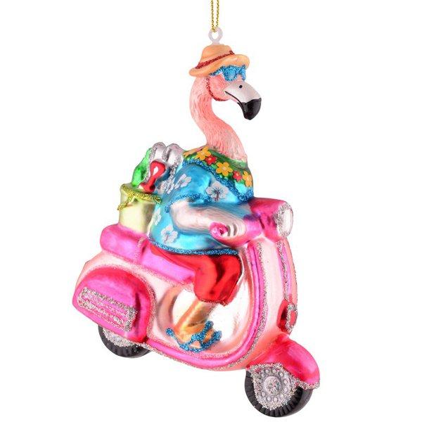 Baumschmuck Christbaumschmuck Flamingo Auf Vespa Von Gift Company
