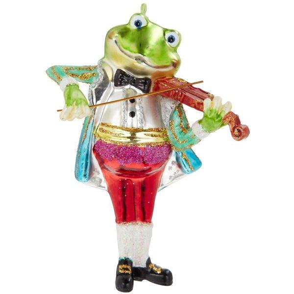 Christbaumschmuck frosch mit violine von inge glas - Christbaumschmuck leuchtturm ...
