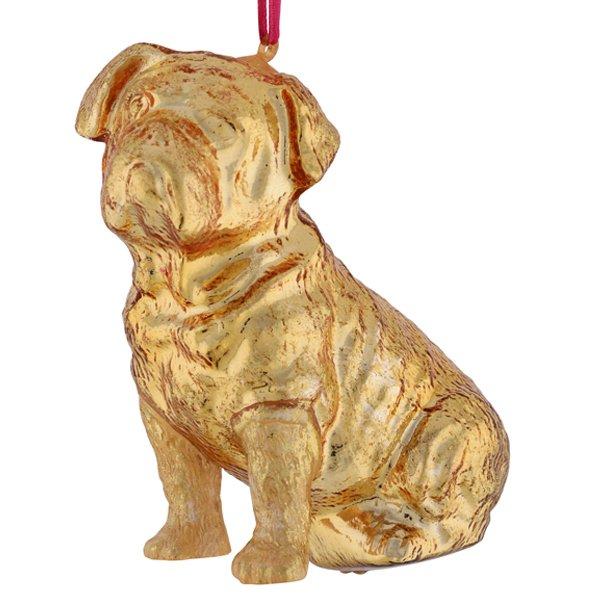 Christbaumschmuck Hund Bulldogge Gold Von Gift Company