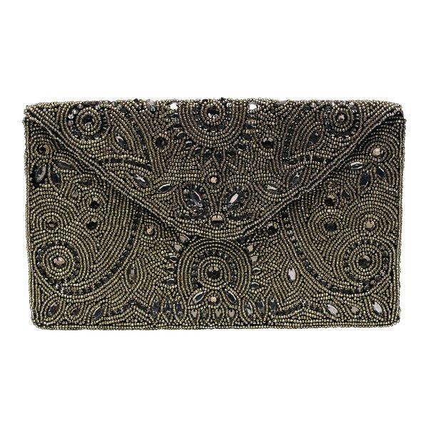 5c286eeecb172 Handtasche Clutch Antique mit Perlenstickerei von Gate Noir Greengate
