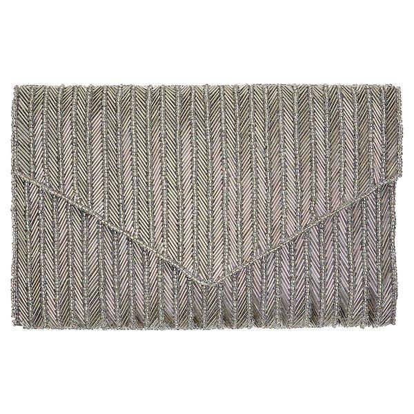 378310dadaa8f Handtasche Clutch Silver Lines mit Perlenstickerei von Gate Noir ...