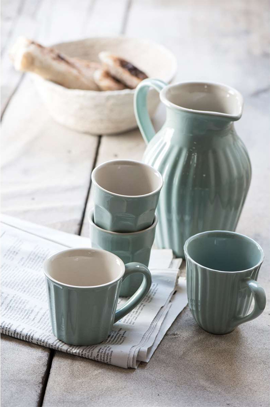 Stor Henkelbecher Kaffeebecher Becher Mynte Green Tea (Eckig) von Ib SO-13