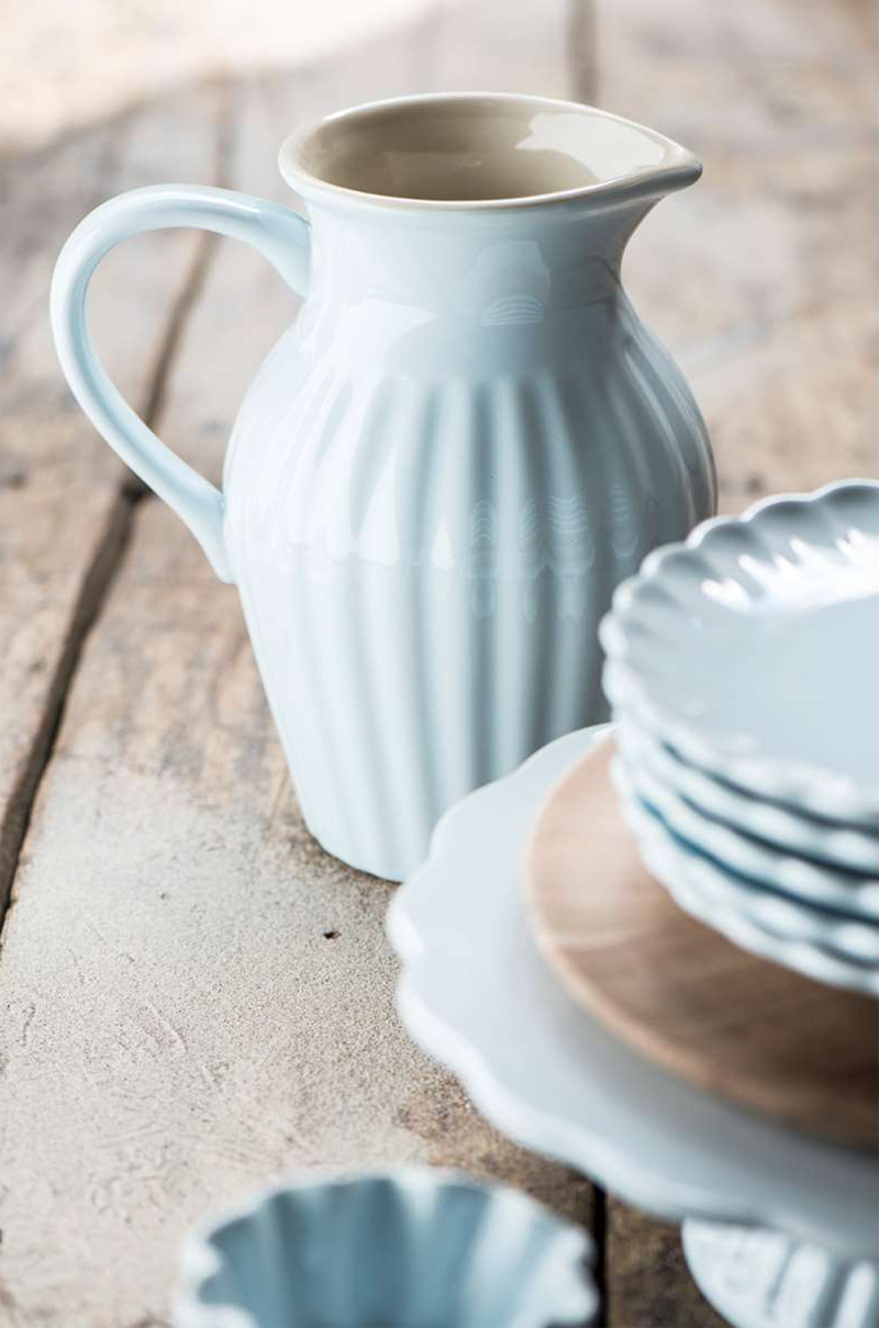 Glimrende Karaffe Milchkrug Krug Mynte Stillwater Blau Keramik von Ib Laursen AE-47