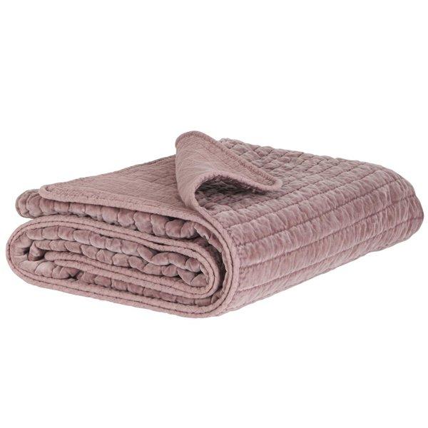 decke tagesdecke kuscheldecke quilt malva velour 180 x 130 cm von ib laursen. Black Bedroom Furniture Sets. Home Design Ideas