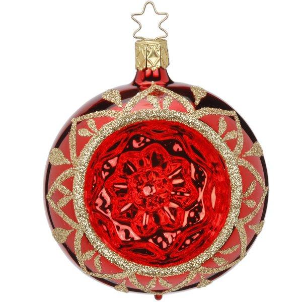 Christbaumschmuck Reflexkugel Blossom Rot Mittel Von Inge Glas