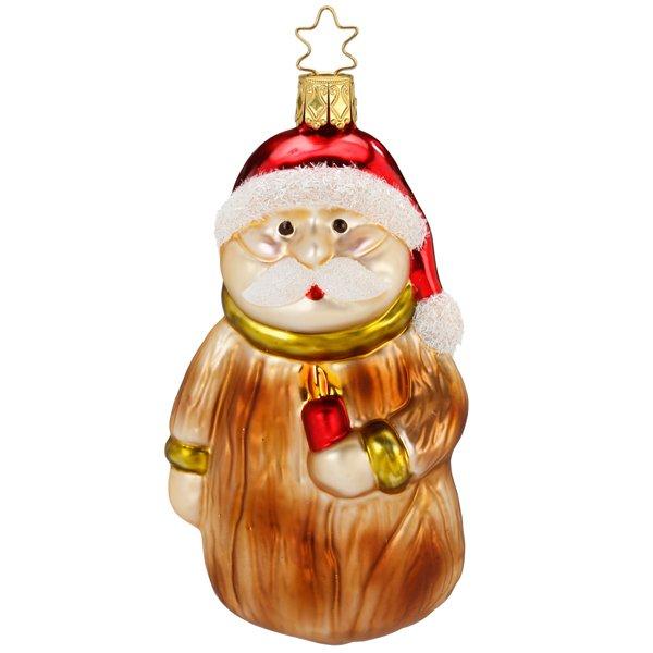 Christbaumschmuck Weihnachtsmann Geschnitzter Niko Von Inge Glas