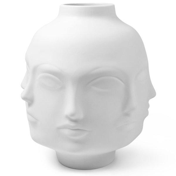 Skulptur Objekt Blumenvase Vase Dora Maar Weiß Groß Von Jonathan Adler