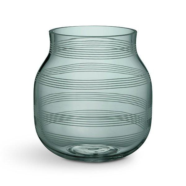 Vase Glas Grün 17cm Von Kähler Design