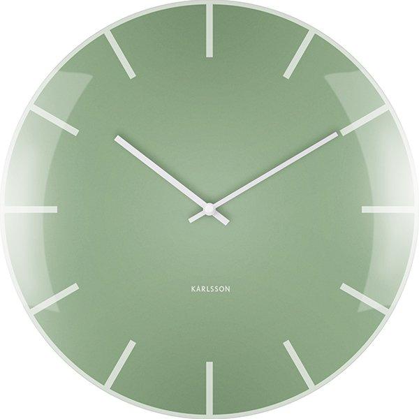Wanduhr Grün wanduhr glass dome grün von karlsson