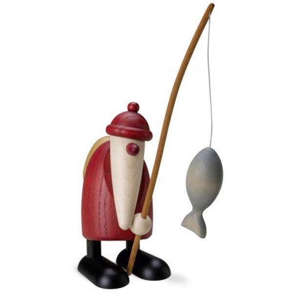 Köhler Kunsthandwerk Weihnachtsmann mit Angel , EUR 40,50 ...