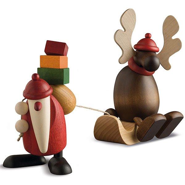 Weihnachtsmann mit Faultier von Köhler Kunsthandwerk