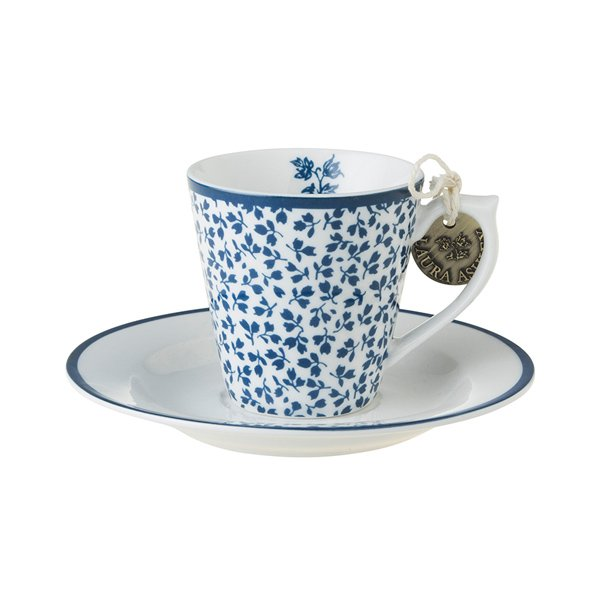 Espresso Tasse Untertasse Blueprint von Laura Ashley