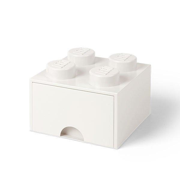 Aufbewahrungsbox Drawer Brick 4 Mit Schublade Weiss