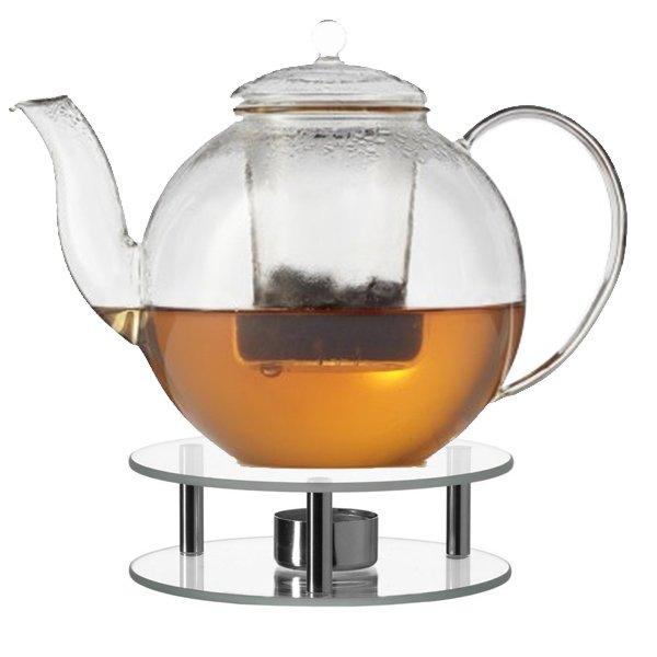 Teekanne Mit Stövchen Armonia Aus Glas 12 Liter Von Leonardo