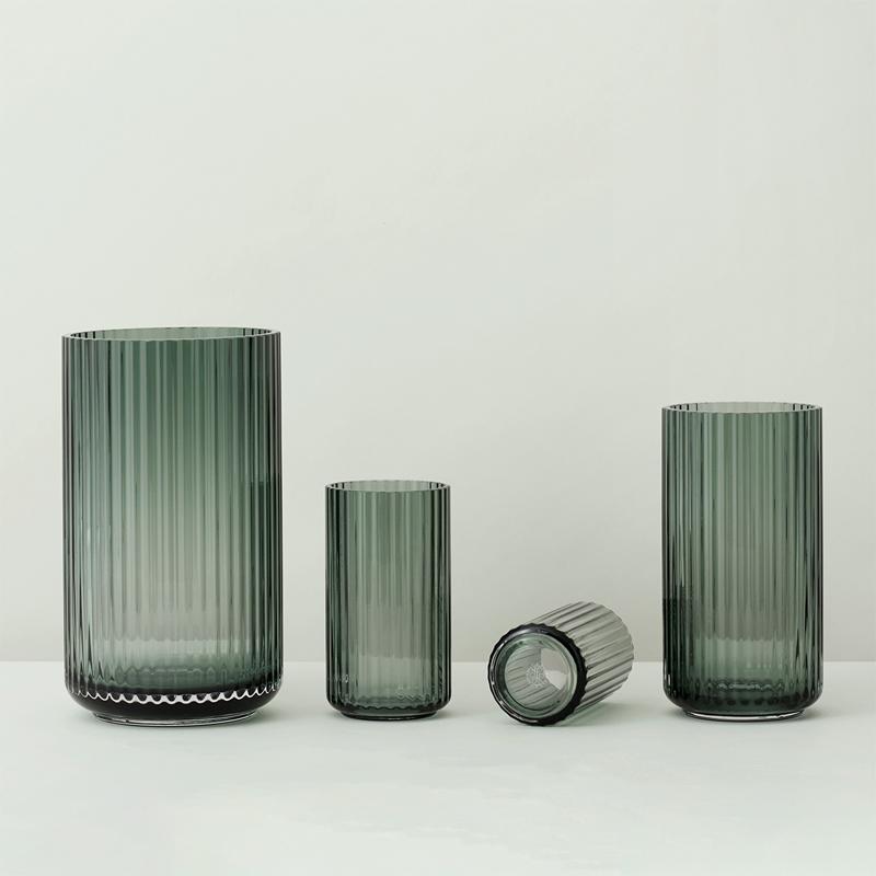 Lyngby Porcelain Glasvase Grün 25cm