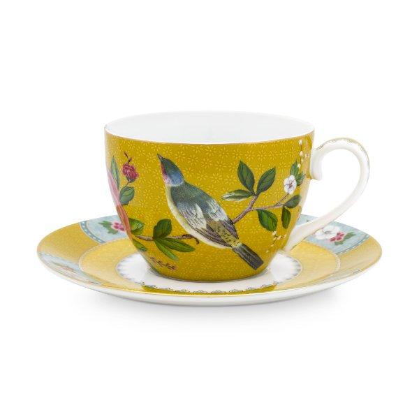 Pip Studio Espressotasse Mit Untertasse Blushing Birds Weiß 4-teilig