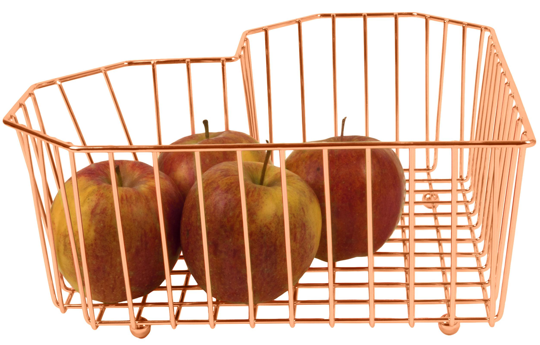 Obstkorb Herz Kupfer von Present Time