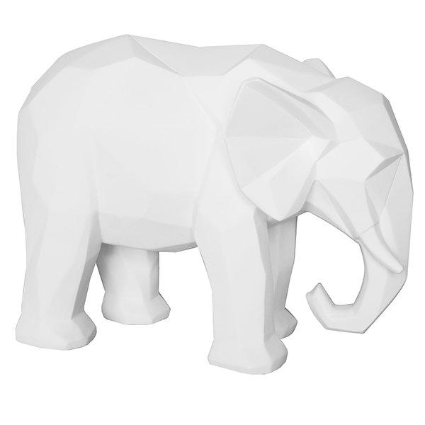 Present Time Statue Origami Elefant Weiß