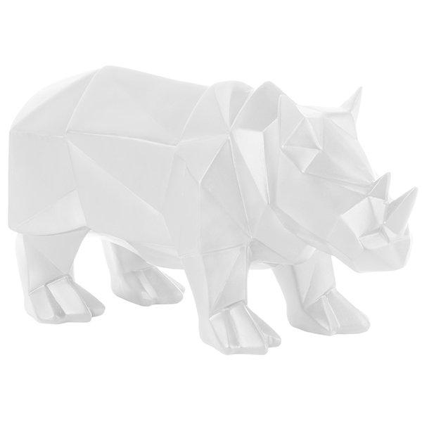 Present Time Statue Origami Löwe Weiß