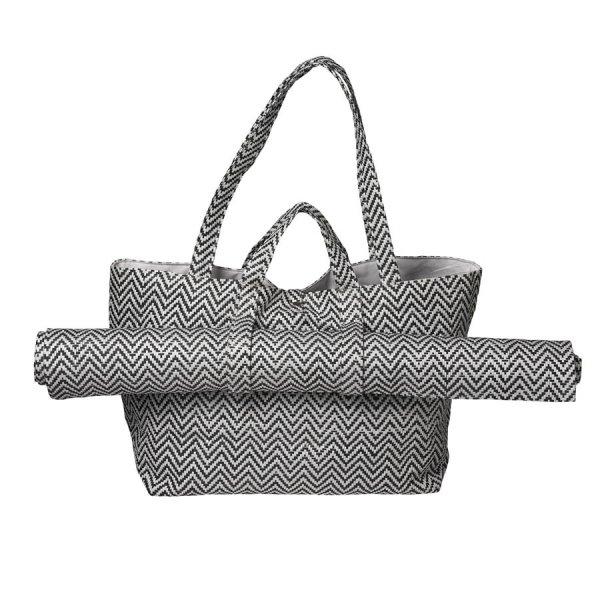 Eigene Tasche Designen   Sommertag Tasche Schwarz Weiss 2 Teilig Von Rader Design