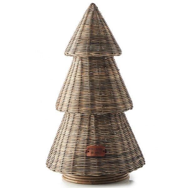 Weihnachtsbaum Rattan.Dekoration