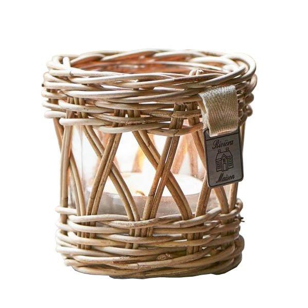 Kerzenleuchter Windlicht Teelichthalter Rustic Rattan Von Riviera Maison