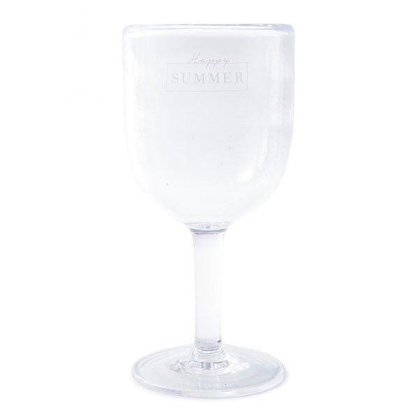 Riviera Maison Weinglas aus Kunststoff Happy Summer