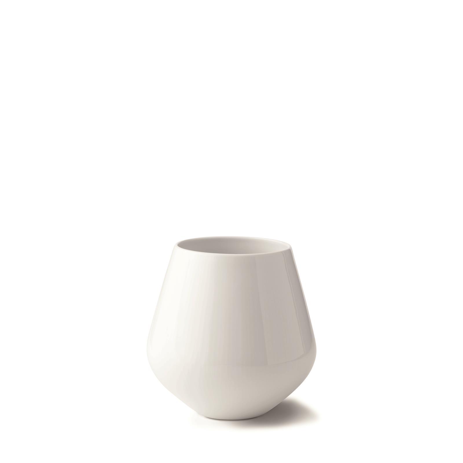 Royal Copenhagen Vase Weiß Gerippt Groß 20 5cm Eur 77 17