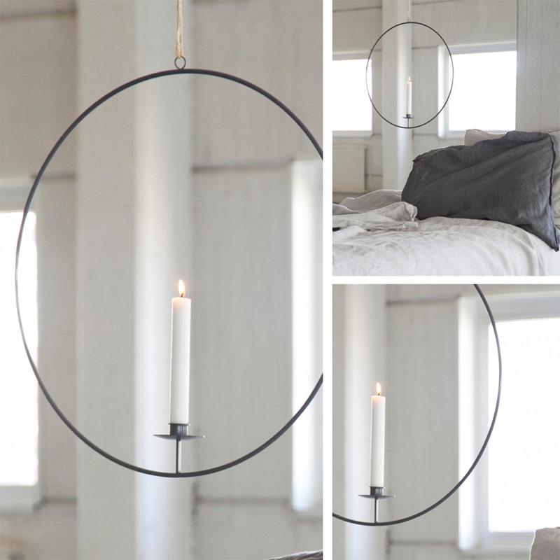 Storefactory Kerzenleuchter Gullabo Lichtring Weiß hängend