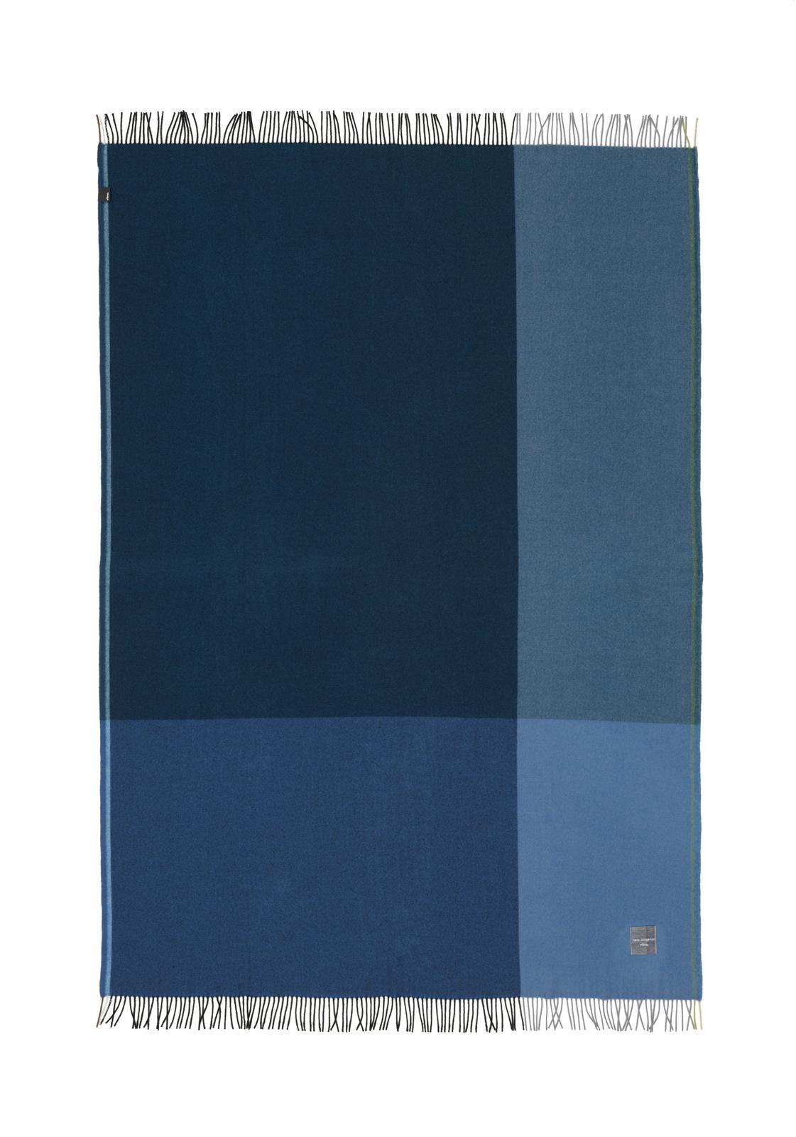 Wolldecke Colour Block Schwarz Blau Von Vitra