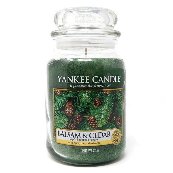 YANKEE CANDLE Große Kerze BALSAM FIR 623 g Duftkerze