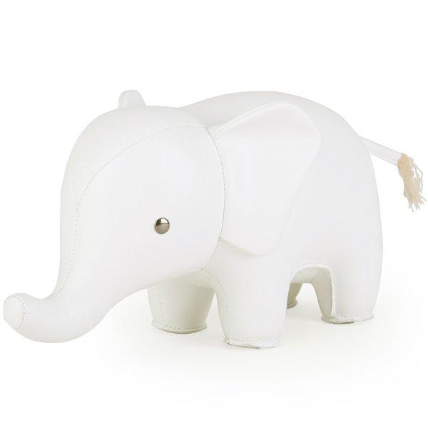 Buchstütze Elefant Weiß von Züny